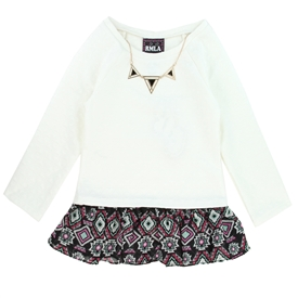 Wholesale RMLA Girls 7-14 Holiday Fashion Top with Necklace